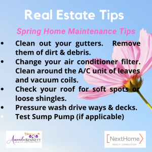 Real Estate Tips Spring Home Maint.